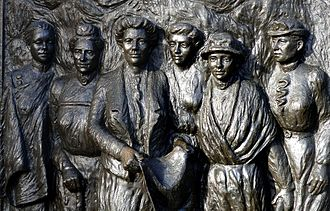 Kate Sheppard - Sheppard and five other prominent New Zealand suffragettes are commemorated on the Kate Sheppard National Memorial, a bronze sculpture in Christchurch.