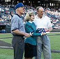 Kay Bailey Hutchison presents Nolan Ryan an American flag flown over the U.S. Capitol.jpg