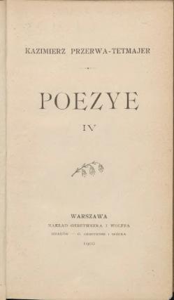 Poezye Przerwa Tetmajerivcałość Wikiźródła Wolna