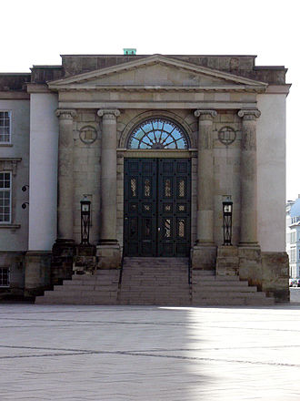 Courts of Denmark - Entrance to the Danish Supreme Court, located in Christiansborg Palace in Copenhagen.
