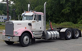 """Kenworth W900 - 1972–1982 Kenworth W900A, with the round headlights and the """"paddle-style"""" door latches."""