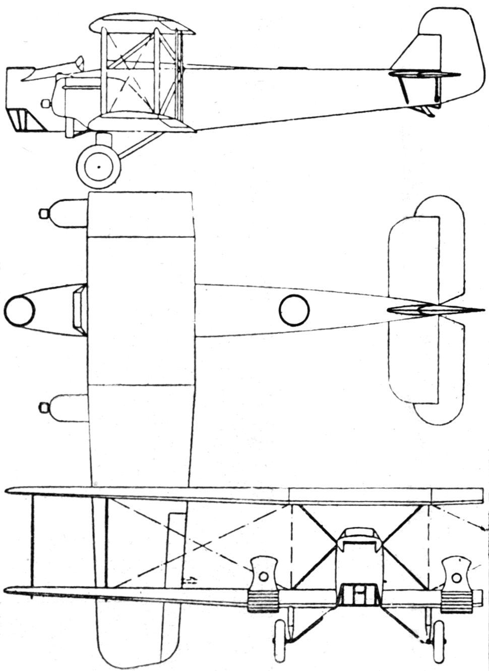 Keystone XLB-5 3-view L'Air February 15,1928