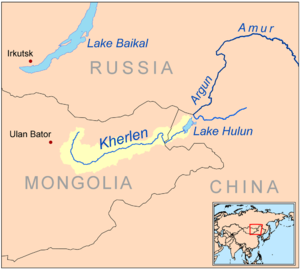 Kherlen River - Image: Kherlenrivermap