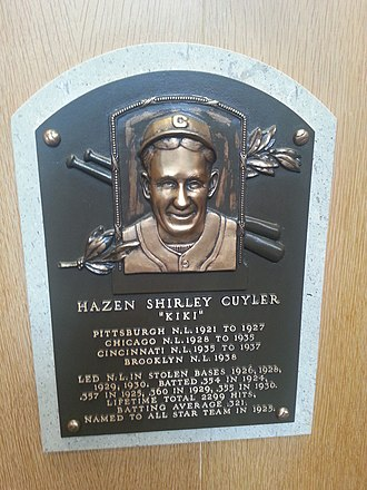 Kiki Cuyler - Plaque of Kiki Cuyler at the Baseball Hall of Fame