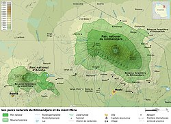 Kilimanjaro and Arusha National Parks map-fr.jpg