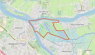 Kinderdijk - Boundaries of the village of Kinderdijk