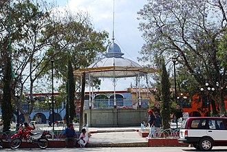 Ocotlán de Morelos - Kiosk in the main plaza