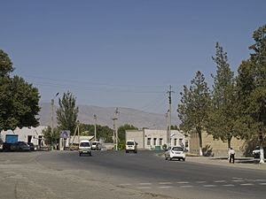 Kitab, Uzbekistan - The Zarafshan Range from the center of Kitab