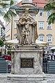 Klagenfurt Alter Platz Dreifaltigkeitssaeule Gnadenstuhl und Inschrift 23072016 3969.jpg