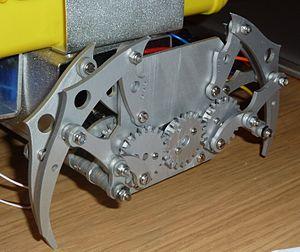 Klann linkage - Image: Klann linkage, lobsterbot