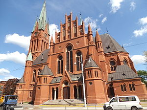Toruń - Saint Catherine of Alexandria church in Toruń - a perfect example of Toruń's Gothic Revival architecture