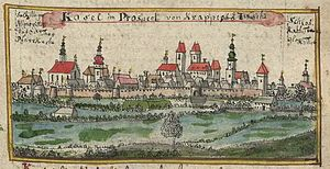 Koźle - Kosel in 1st half of 18th century
