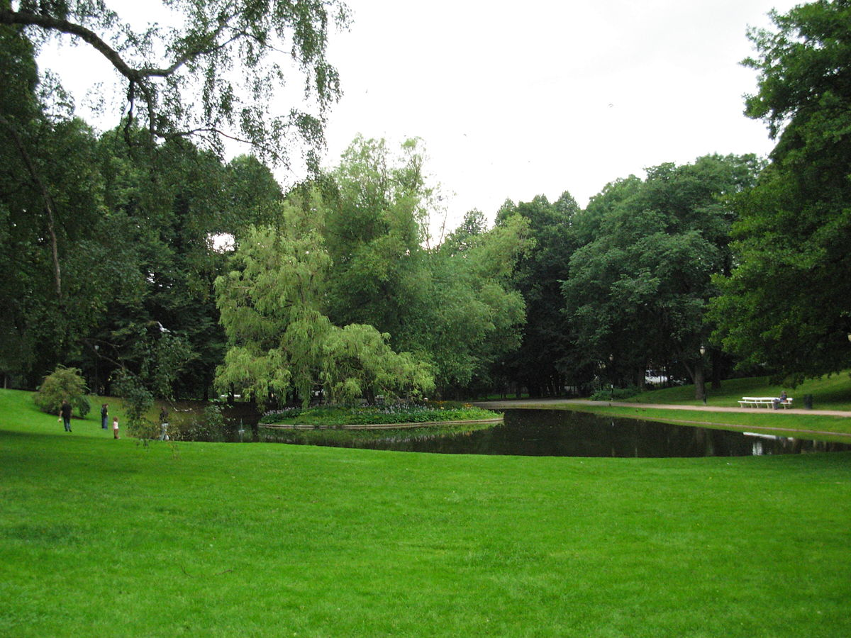 palace park oslo slottsparken parks royal norway wikipedia open space pond spaces surrounds king mirror
