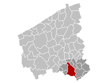 Vị trí của Courtrai in West Flanders