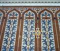 Kostel sv. Rodiny (ČB) 08, kříž na stěně.jpg