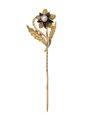 Kråsnål av guld med emalj och orientalisk pärla, 1800-tal - Hallwylska museet - 109955.tif
