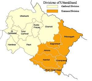 Kumaon division - Divisions of Uttarakhand