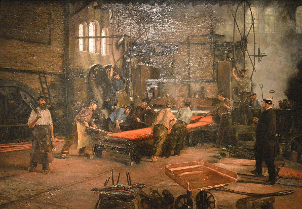 Kupferwalzwerk bei laufendem Betrieb (1891).jpg