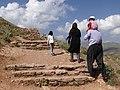 Kurdish Family Ascends Soleiman's Prison - Takht-e Soleiman - Western Iran (7421782040).jpg