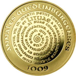 Name of Lithuania - 100 litas gold commemorative coin dedicated to the millennium of Lithuania's name, minted in 2007