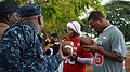 LaRon Landry and Denarius Thomas, Pro Bowl 2013.jpg
