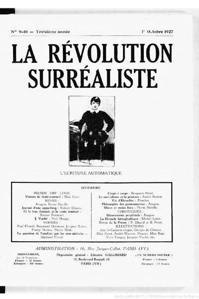 File:La Révolution surréaliste, n09-10, 1927.djvu