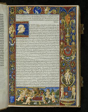 La Bella Principessa - A page of La Sforziada from the  National Library of Poland (Biblioteka Narodowa) in Warsaw