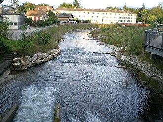 Versoix - Versoix river at Versoix, 2007