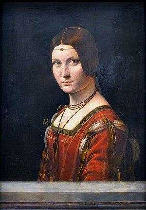La belle ferronnière - Image: La belle ferronnière,Leonardo da Vinci Louvre