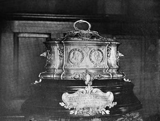 Lafayette dollar - Casket in which the first Lafayette dollar was presented to French President Émile Loubet.