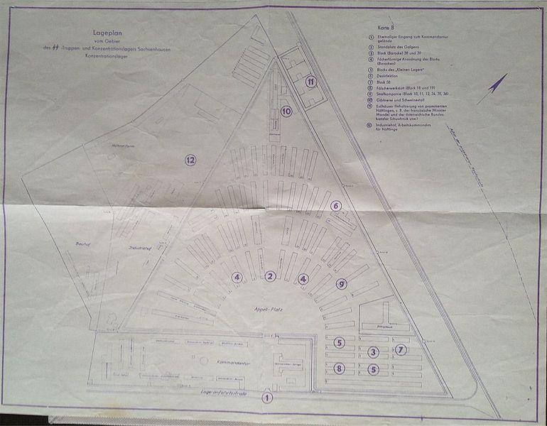 Plik:Lageplan des SS - Truppen - und Konzentransionslagers Sachsenhausen Konzentrationslager.jpg