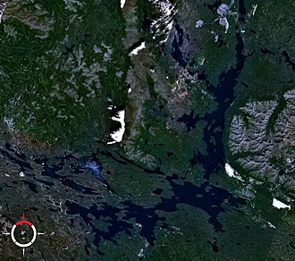 Lake Imandra - Image: Lake Imandra NASA
