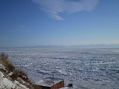 बयकाल झीलLake Baikal / о́зеро Байка́л - सर्दियों में बयकाल झील