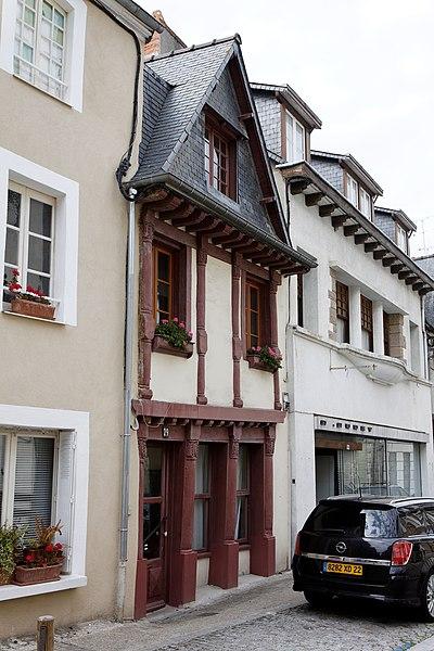 Maison à pans de bois - 29 rue du docteur Calmette - Lamballe (Côtes d'Armor)