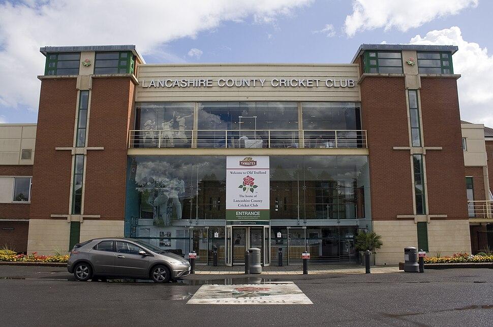 Lancashire county cricket club entrance
