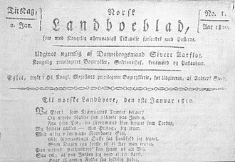 Sivert Aarflot - First front page of the newspaper Norsk Landboeblad