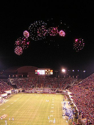 Virginia Tech Hokies - Fireworks over Lane Stadium