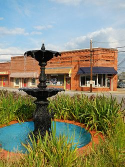 A fountain in Lanett, Alabama