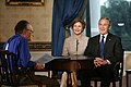 Larry King interviews George W. Bush and Laura Bush.jpg