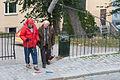 Lasse Åberg och Jon Skolmen vid inspelningen av The Stig-Helmer Story 100927 02.jpg