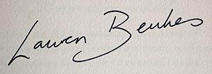 Lauren Beukes - Image: Lauren Beukes signature