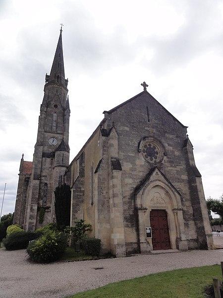 Le Barp (Gironde) église, extérieur