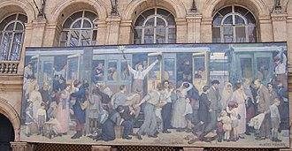 Albert Herter - Le Départ des poilus, août 1914 (Departure of the Infantrymen, August 1914), Gare de l'Est, Paris.