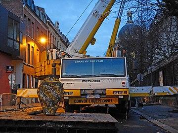 Le grand échiquier, nouvelle version, à Lille le 20 décembre 2018 derniers préparatifs à l'aube 13.jpg