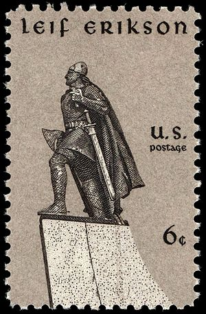 Leif Erikson Day - U.S. stamp issued on Leif Erikson Day, 1968