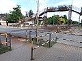 Level crossing and footbridge, Béke Road, 2020 Göd.jpg