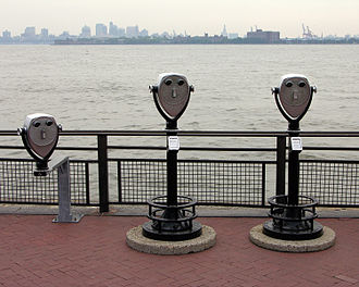 Liberty Island - Coin-operated binoculars on Liberty Island.  The island offers panoramic views of New York Harbor.