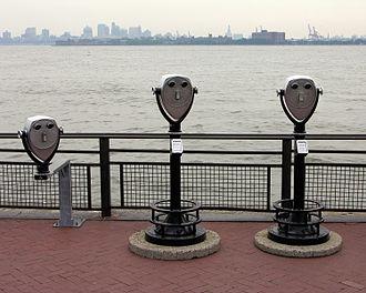 Liberty Island - Coin-operated binoculars on Liberty Island.  The island offers panoramic views of New York Harbor.