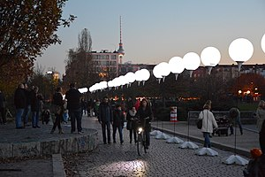 Word of the year (Germany) - Image: Lichtgrenze 25 Jahre Fall Berliner Mauer 2014 03