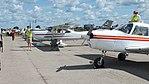Lidmašīnu ekspozīcija aviācijas svētkos Degumnieku lidlaukā.jpg